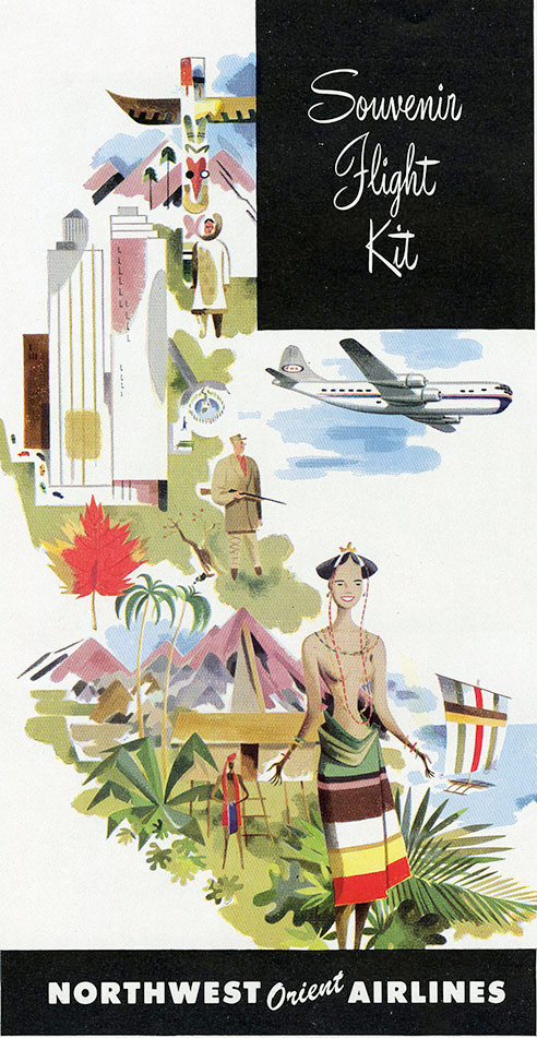 commercial art- Northwest orient airlines