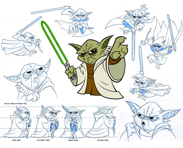 """""""Star Wars: Clone Wars"""" character sketches, Aaron Sowd"""