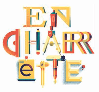 "Illustration ""En Charrette"" represents an expression used in architecture."