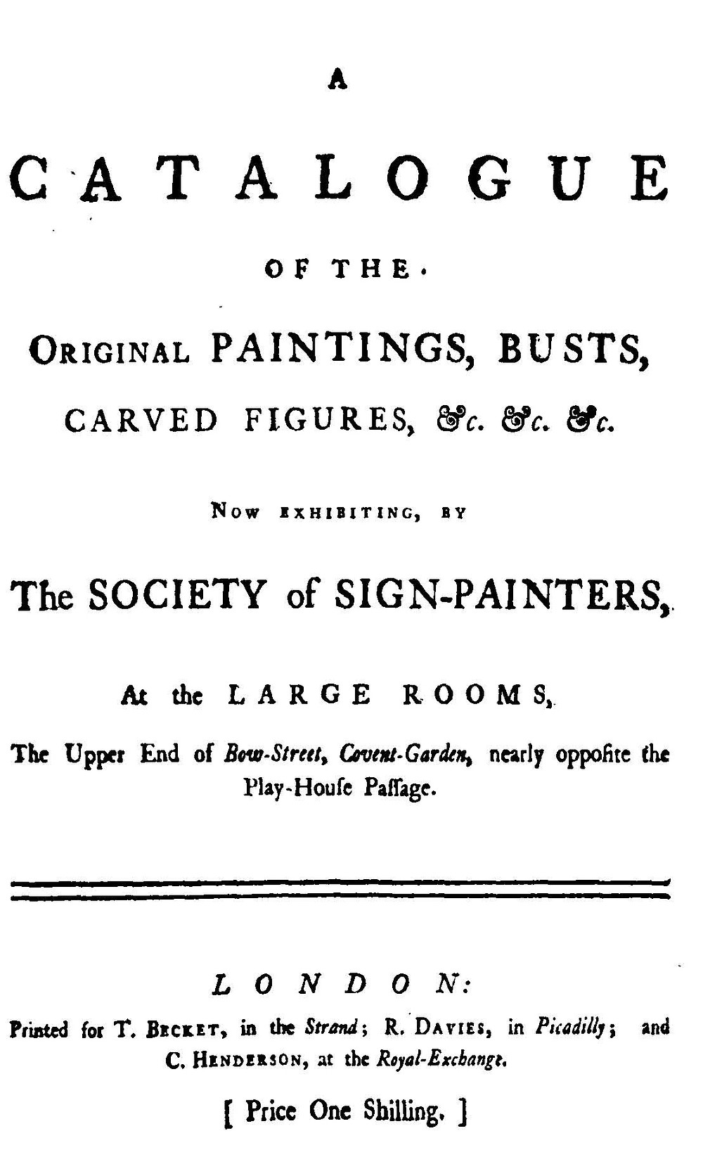 A catalogue of the original painting busts