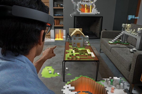 Microsoft's HoloLens promises to change the face of gaming and entertainment, by bringing you a richer interactive experience. image via Microsoft.com