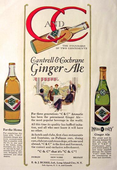 1924 C&C advertisement showing above bottle