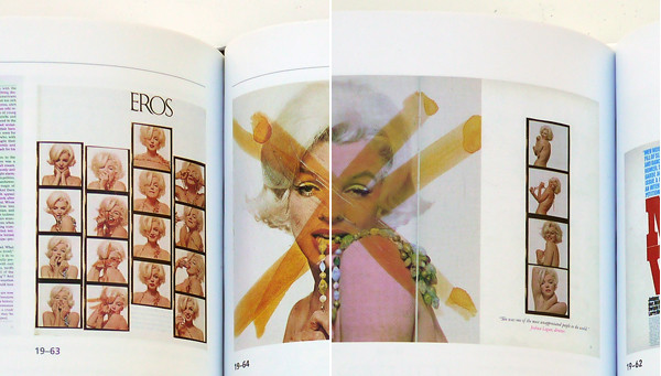 A Marilyn Monroe spread from the fourth edition (left) and the current edition (right)