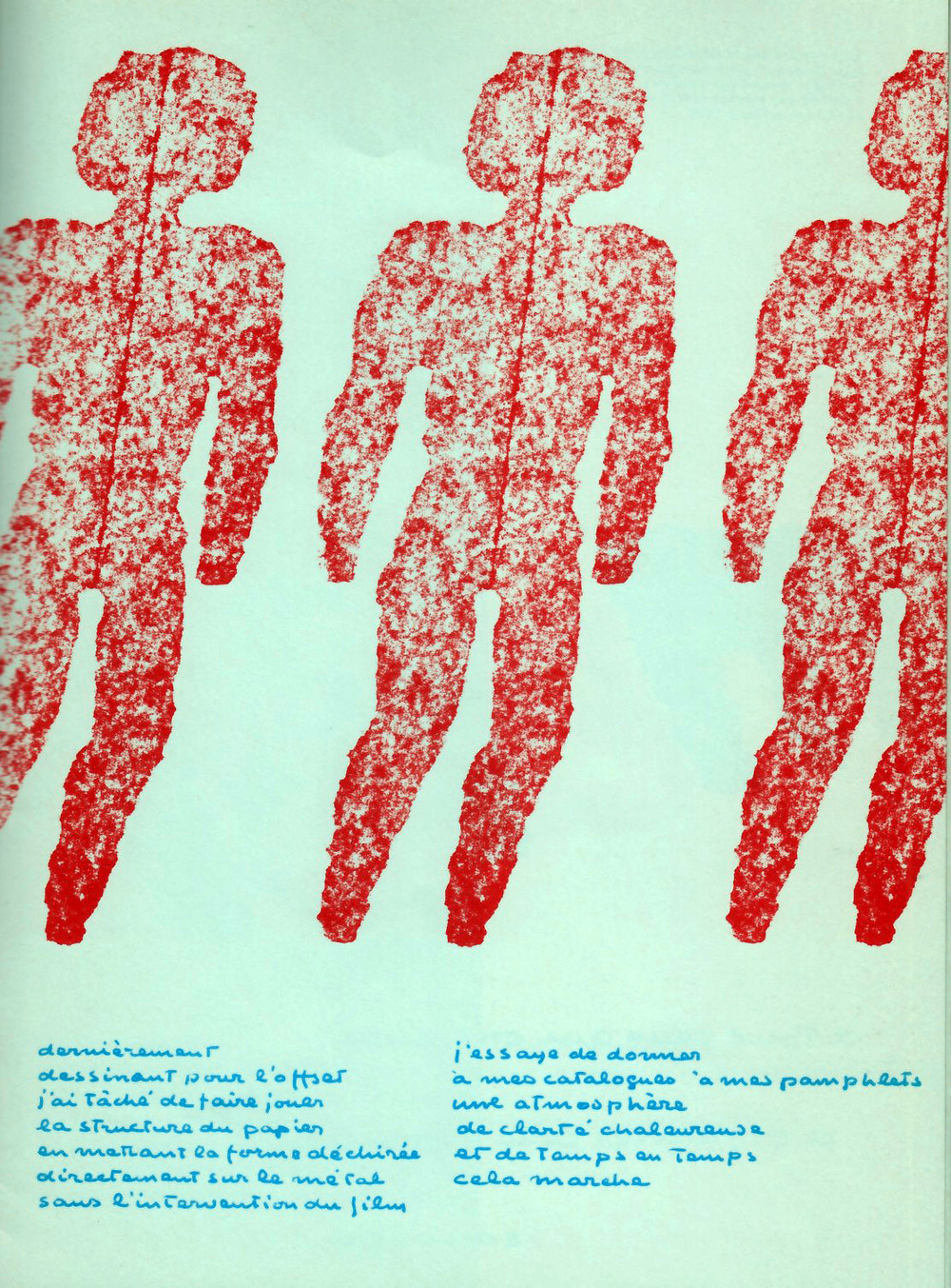 """Texte et illustration de """"NU 2,"""" 1968."""