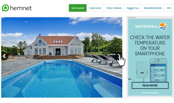 web banner design pool