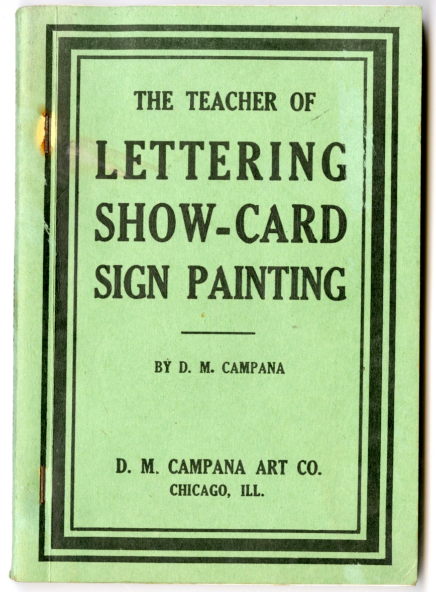 The teacher of lettring show-card sign painting cover