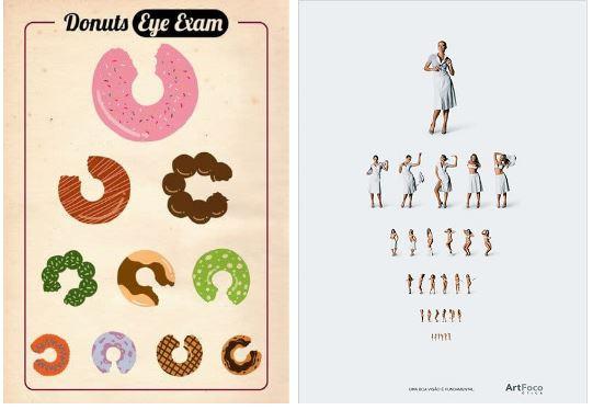 eye chart donuts