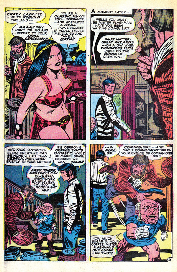 Mister Miracle #6, 1972. Jack Kirby: pencils, Mike Royer: inks and letters.