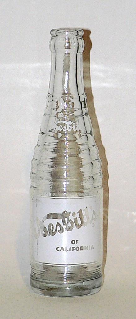 1940s Nesbitt's bottle with white label