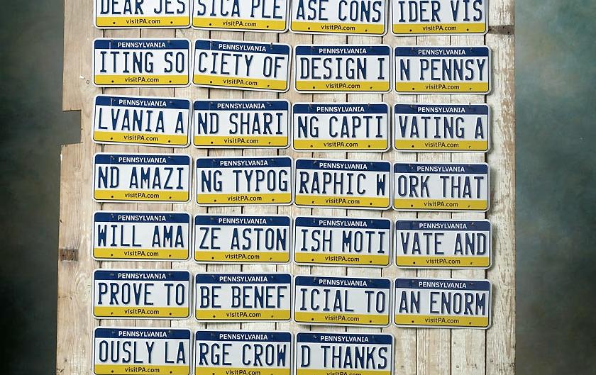License Plates Turned Into Coolest Design Invitation