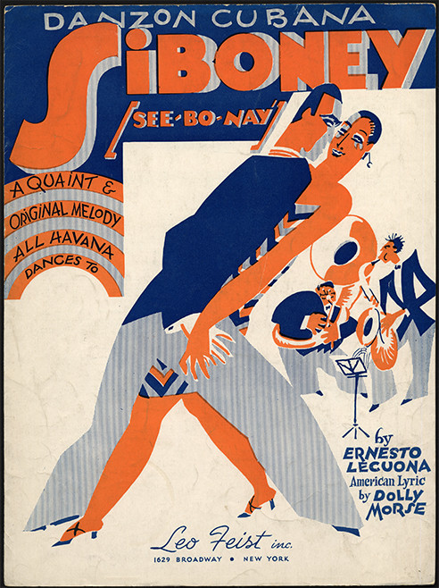 Sheet music cover, Danzon Cubana: Siboney (See-bo-nay)