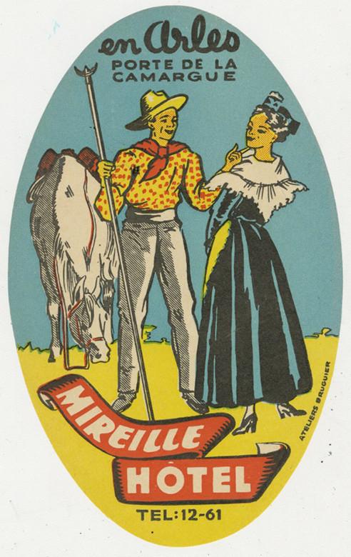 mireille Hotel luggage label