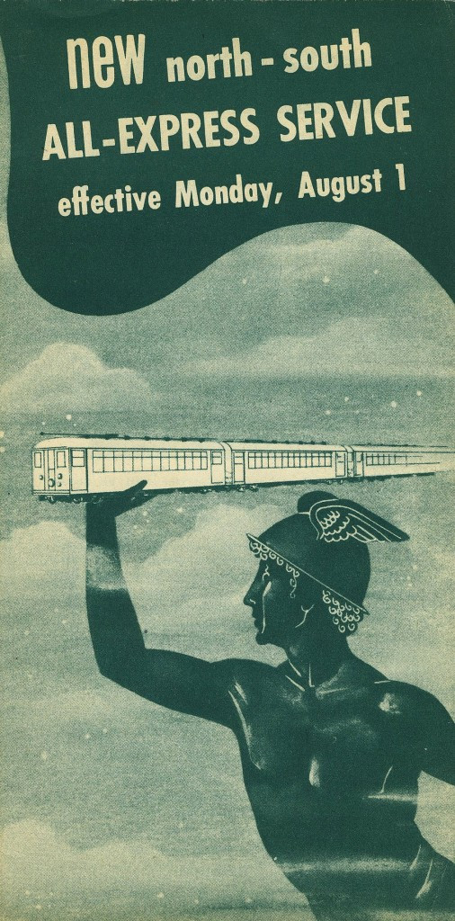 brochure explaining the restructuring of service that ensued with the demise of the Chicago Rapid Transit and the creation of the new Chicago Transit Authority