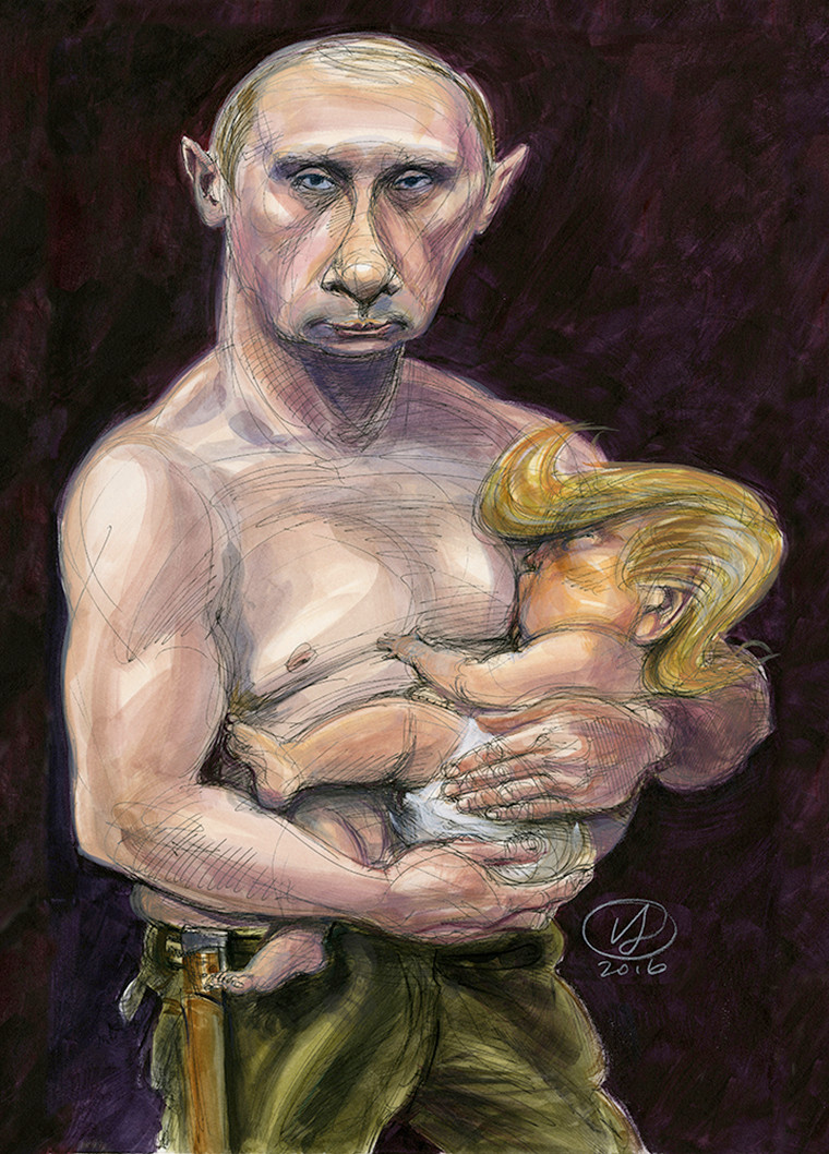 Putin breastfeeding Trump