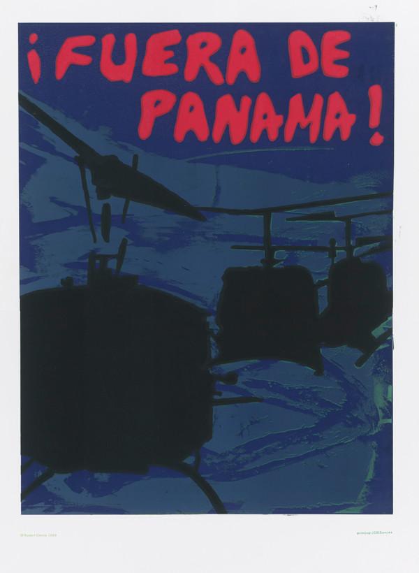 Rupert García: ¡Fuera de Panama!, 1989