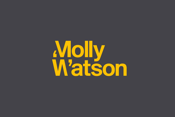 Molly Watson logo: Created by London-based Studio Blackburn, this logo's strengths lie in its simplicity, boldness and cleverness.