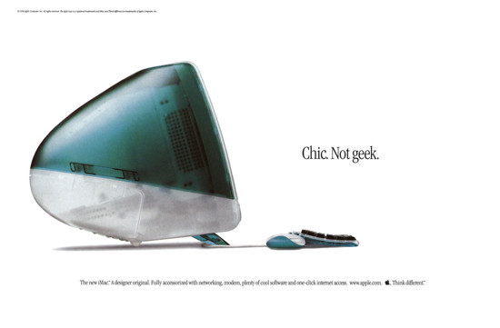 "1998 iMac ""Chic. Not Geek."" Ad."