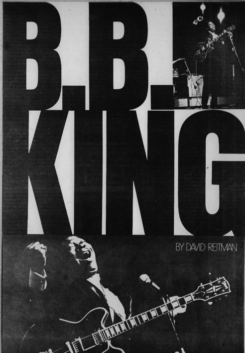 B.B king poster