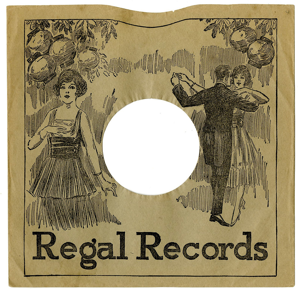 Vinyl record sleeves used to prominently display artwork.