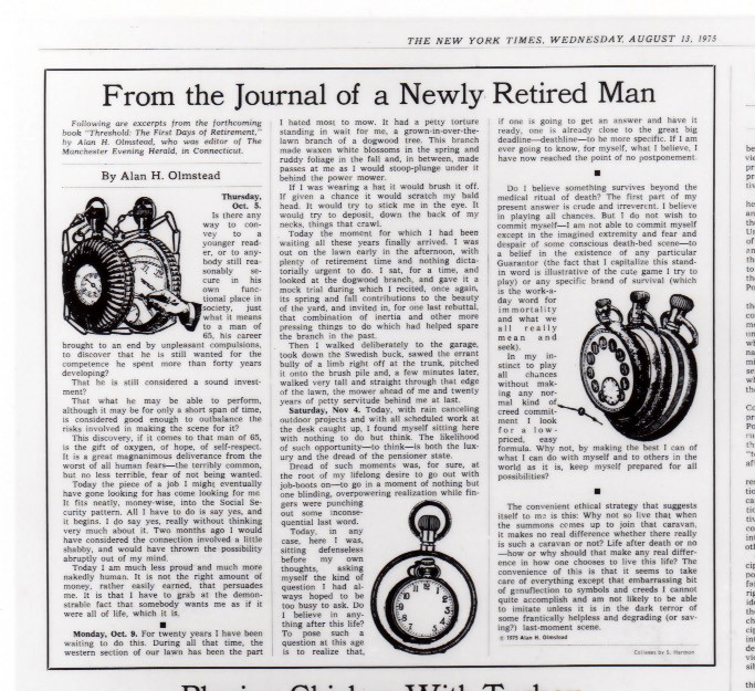 "Printer's proof on newsprint of an OpEd illustration using engraving and icon from a book of ""sign-symbol"" clip-art"