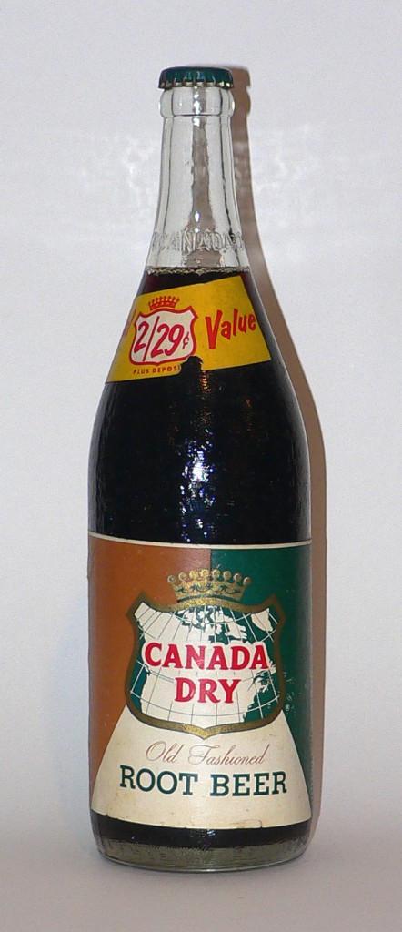 1960s Canada Dry root beer bottle