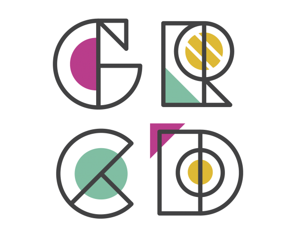 grcd logo: brand design by Morgan Prenger