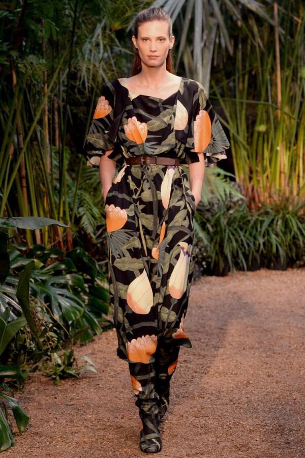 Credit: Hermès' Rousseau inspired jungle floral, via Pattern Observer's Pinterest board and Vogue.com.