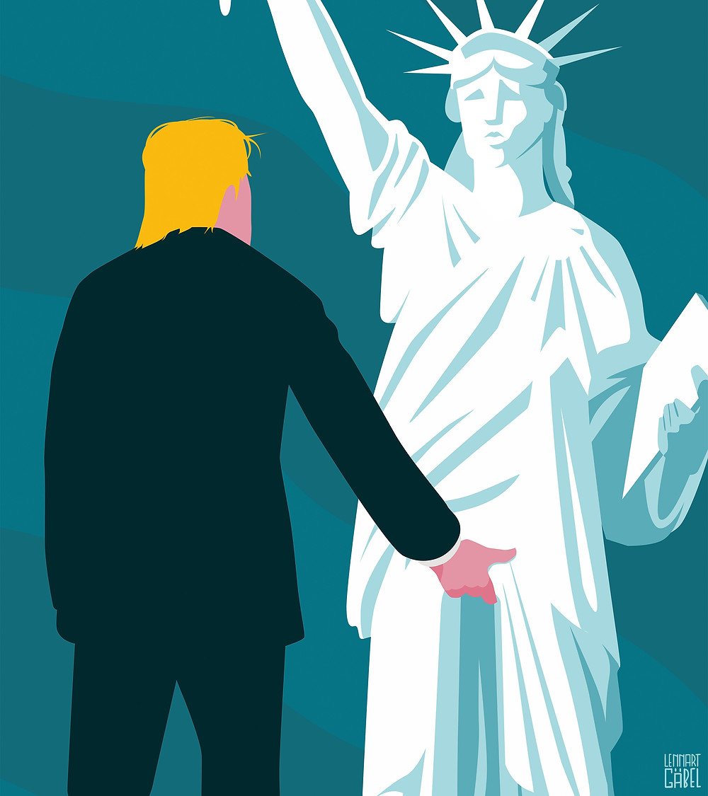 Donald J. Trump's #METOO moment by Lennart Gabel, 2016. Photograph used by permission from Lennart Gäbel.