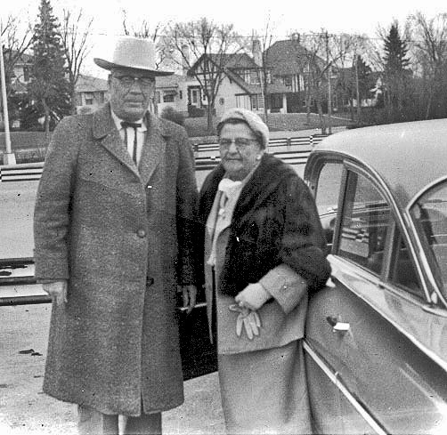 Andrew and his wife Mabel, 1954.