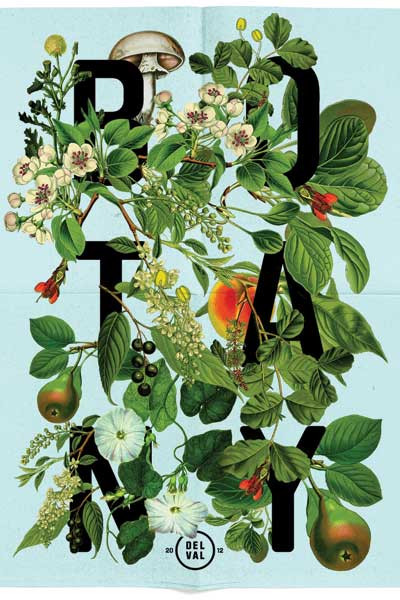 A promotional poster for DelVal College's botany program.