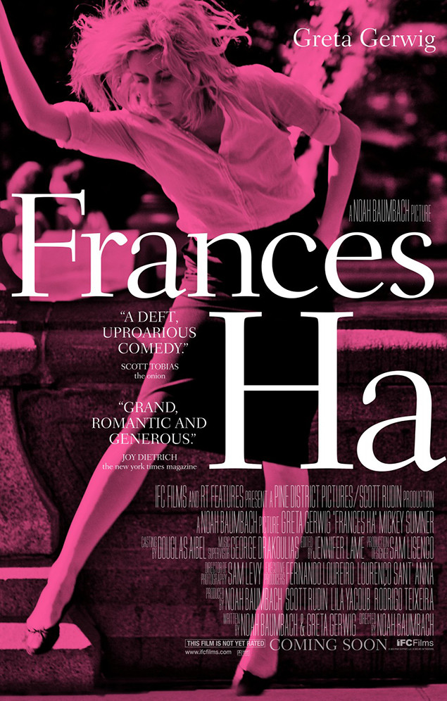 2013 Best movie posters: This look at the year's best movie posters includes Noah Baumbach's Frances Ha among its selections.