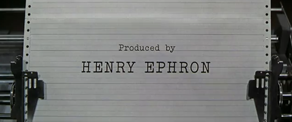 Produced by Henry Ephron