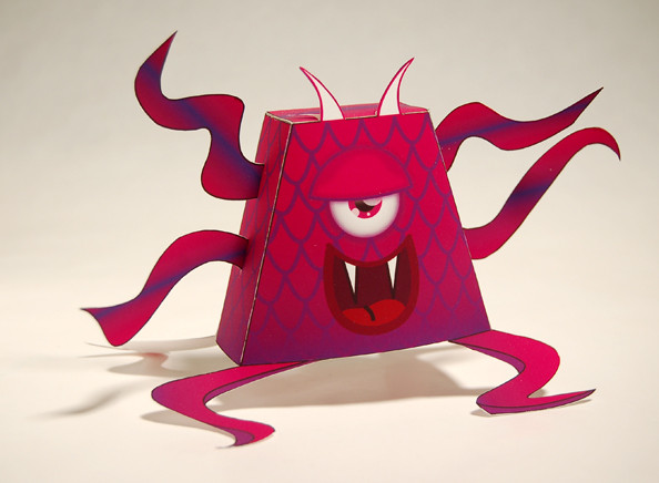 "Gaspar, from the ""little monster"" paper toy series designed by baykiddead."