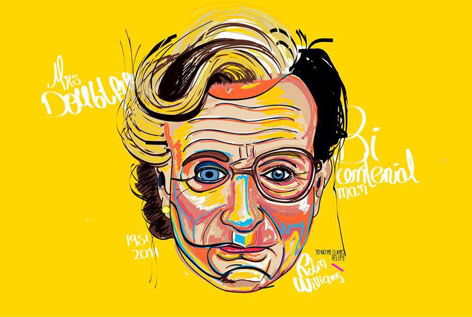 robin williams tributes: Tributes for Robin Williams as designers, illustrators and artists offer their respects to the comedian and Oscar-winning actor.