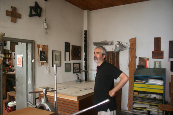 Lucio Passerini in his studio.