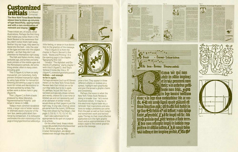 typogaphic - costumized initials