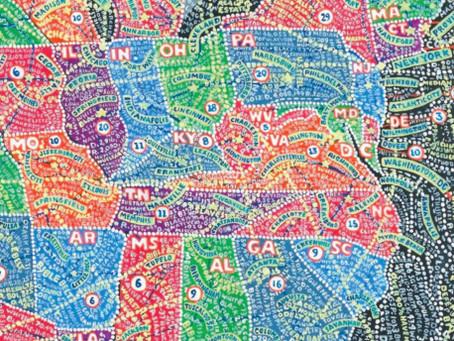 Paula Scher's Mind-Bending Maps