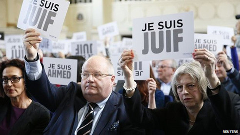 "protests against antisemitism - ""je suis juif"""
