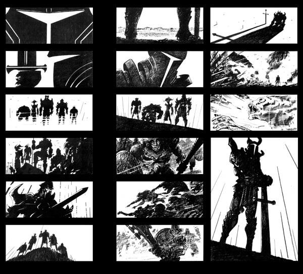 """Teenage Mutant Ninja Turtles"" animated movie storyboards, Trevor Goring"