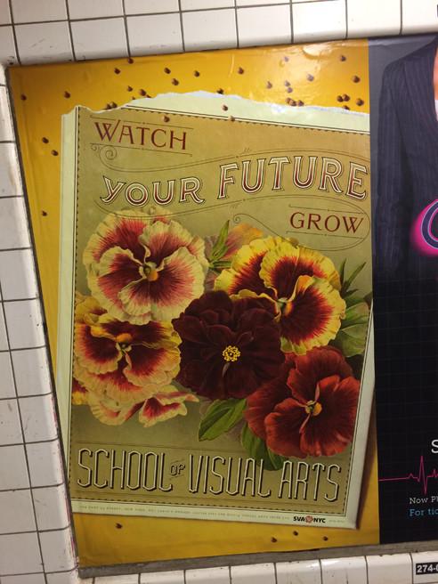 Louise Fili's subway poster