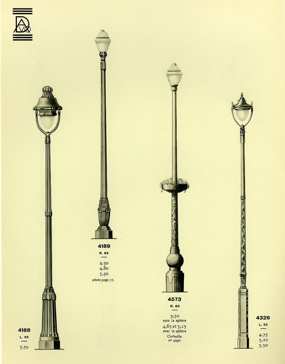 catalog of lampposts