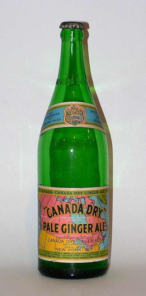 1940s Canada Dry ginger ale bottle