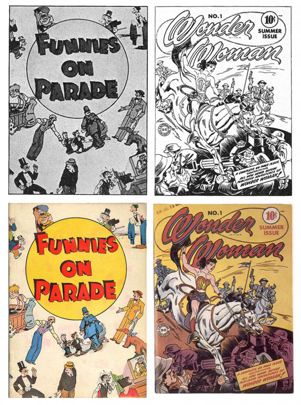 Funnies On Parade and Wonder Woman comics
