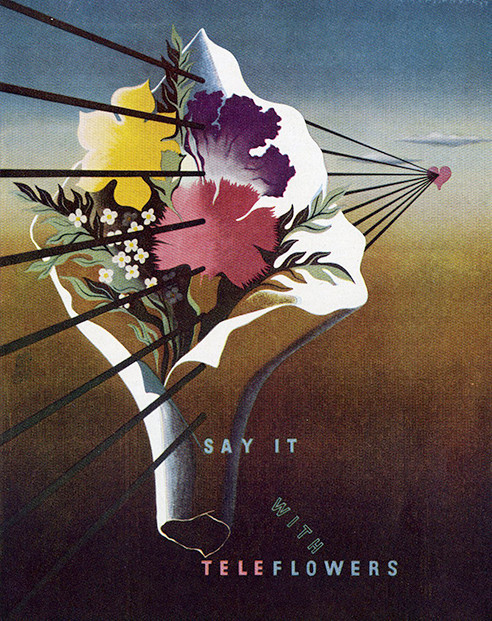 commercial art- say it with teleflowers
