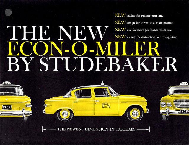 1959 Studebaker Econ-o-Miler Taxicab via Alden Jewell on Flickr: http://bit.ly/1acZiGX