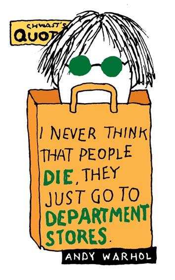 Andy Warhol by Seymour Chwast