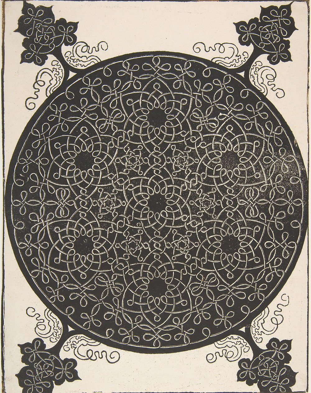 """""""The Fifth Knot"""" Roundel by Albrecht Durer, circa 1498"""