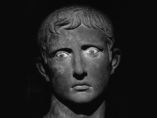 ca. 27-25 B.C. --- Bronze Head of Augustus --- Image by © Sandro Vannini/CORBIS