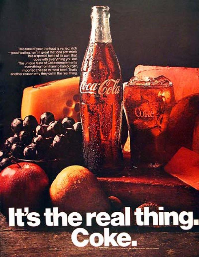 Neue Haas Grotesk (as Helvetica) in a Coca-Cola Ad