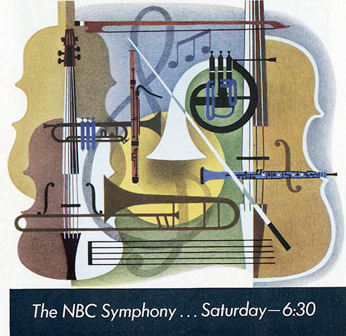 commercial art- The NBC symphony ... Saturday -6:30